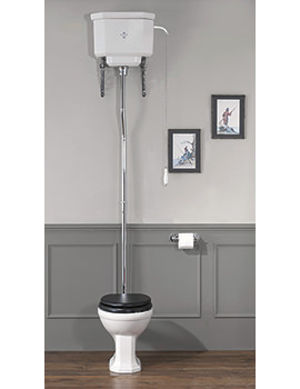 Empire High Level WC Pan With Cistern And Fittings