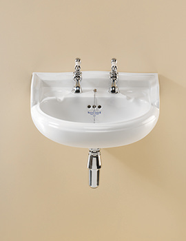 Related Silverdale Nouveau 2 Taphole White Cloakroom Basin - NSBAS49GWHIBL