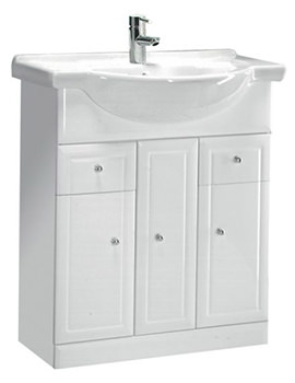 Aspen White 700mm Floor Standing Unit And 750mm Basin