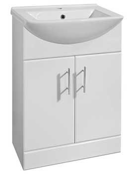 Lauren Mayford 550mm White Floor Standing Basin And Unit