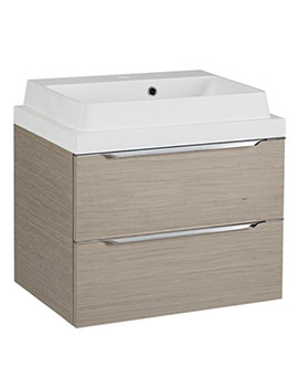 Tavistock Array Light Java 600mm Double Drawer Basin Unit