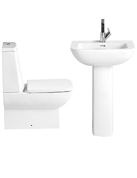 Sonic Square Bundle 1 - Close Coupled WC Set And Basin