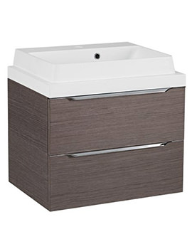 Tavistock Array Dark Java 600mm Double Drawer Basin Unit