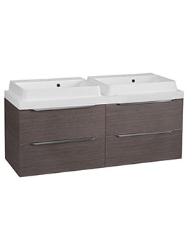 Tavistock Array Dark Java 1200mm Twin Double Drawer Units With Double Basin
