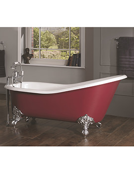 Ginevra 2 Taphole Slipper Bath 1540x765mm With Primed Feet