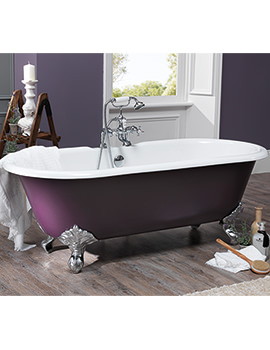 Silverdale Rosamund Dual Roll Top Bath 1780 x 800mm With Primed Feet