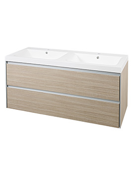 Hudson Reed Erin 1200mm Cabinet With Basin Light Oak