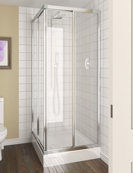 Aqualux Aqua 4 Telescopic Corner Entry Clear Glass Enclosure 760-800mm