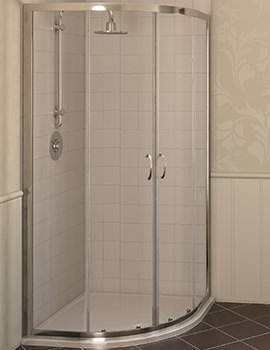 Aqua 4 Quadrant Shower Enclosure 800 x 800mm Polished Silver