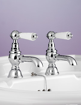 Berkeley Pair Of Basin Pillar Tap Chrome - BYTBSPILCHR
