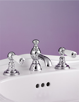 Berkeley 3 Taphole Basin Mixer Taps With Pop-Up Waste