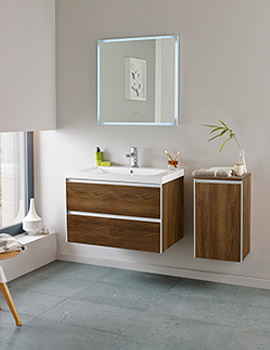 Hudson Reed Erin 800mm Furniture Pack Textured Oak - FEN007