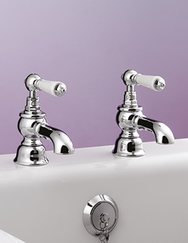 Berkeley Pair Of Bath Pillar Tap Chrome - BYTBTPILCHR