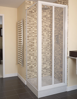 Aqualux Aqua 4 Bi-Fold Shower Door 800mm White - 1174012