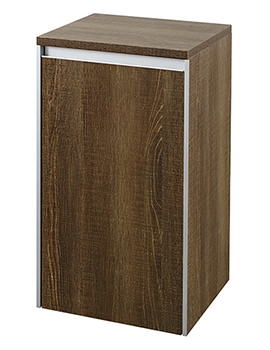 Hudson Reed Erin 350 x 600mm Side Cabinet Textured Oak - CAB385