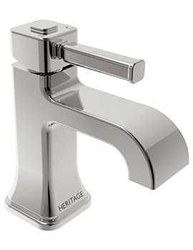 Heritage Somersby 1 Taphole Basin Mixer Tap - TSBC04