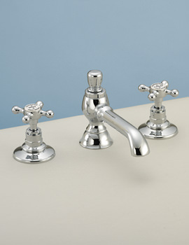Victorian 3 Taphole Basin Mixer Tap With Pop Up Waste