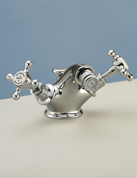 Victorian Bidet Monobloc Mixer Tap With Pop Up Waste