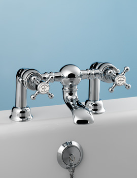 Victorian Bath Filler Bridge Tap Chrome - VCTBTBFDCHR