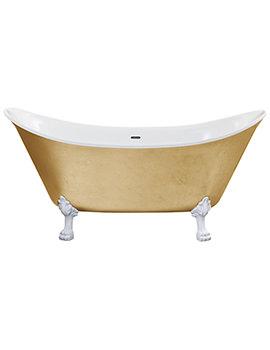 Heritage Lyddington Freestanding Gold Effect Acrylic Bath With Feet 1730mm