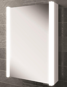 Vita 50 Single Door LED Illuminated Mirror Cabinet 500 x 700mm