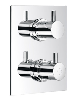 Flova Levo Concealed Thermostatic Shower Mixer With Shut Off Valve