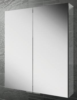 Eris 60 Double Door Aluminium Mirrored Cabinet 600 x 700mm