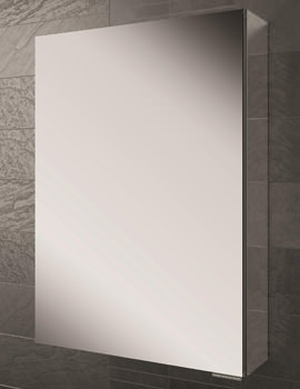 Eris 50 Single Door Aluminium Mirrored Cabinet 500 x 700mm