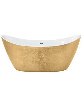 Heritage Hylton Freestanding Gold Effect Acrylic Bath 1730 x 730mm