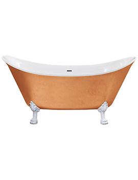 Heritage Lyddington Freestanding Copper Effect Acrylic Bath With Feet 1730mm