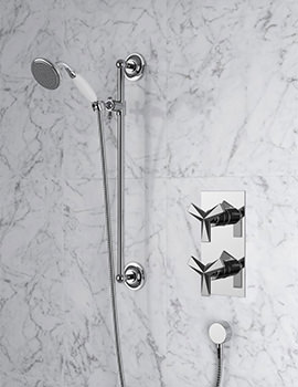 Hemsby Chrome Recessed Thermostatic Valve With Shower Kit