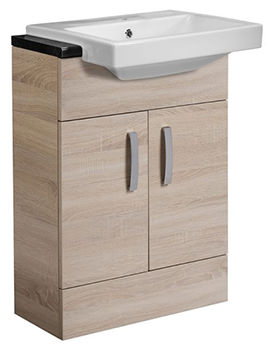 Courier Oregon Oak Semi-Countertop Unit 600mm - CR6FOR
