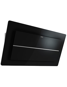 Maris Plus 900mm FMPL 906 BK B Wall Mounted Black Glass Kitchen Hood