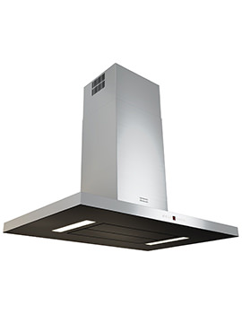 Maris T-Shape 900mm FGB 906 IS AC Island Steel-Glass Kitchen Hood