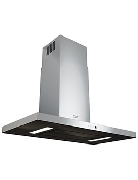 Maris T-Shape 900mm FGB 906 W AC Wall Steel-Glass Kitchen Hood