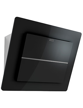 Maris Plus 600mm FMPL 606 BK B Wall Mounted Black Glass Kitchen Hood