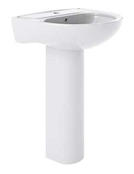 Lauren Lawton 550 x 480mm 1 Tap Hole Basin And Full Pedestal