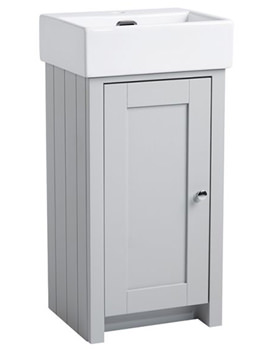 Tavistock Lansdown 400mm Pebble Grey Cloakroom Unit And Basin