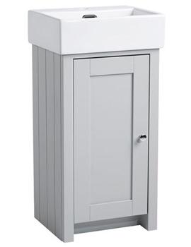 Tavistock Lansdown 400mm Pebble Grey Cloakroom Unit And Basin