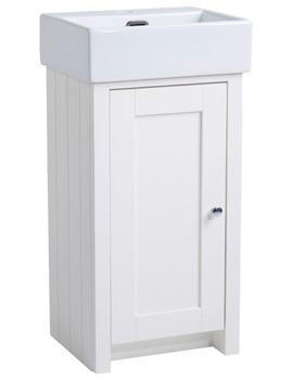Tavistock Lansdown 400mm Linen White Cloakroom Unit And Basin