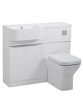 Tavistock Match 1000mm Gloss White Furniture Run - Left Hand