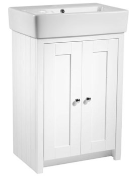 Tavistock Lansdown 550mm Linen White Freestanding Unit And Basin