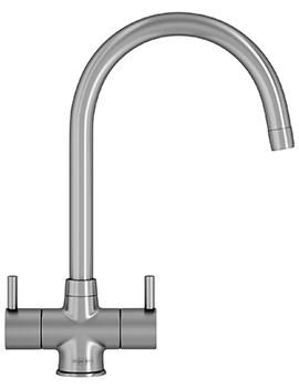 Athena Kitchen Sink Mixer Tap SilkSteel - 115.0311.215
