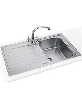 Ascona Propack ASX 611-860 Stainless Steel Kitchen Sink And Tap