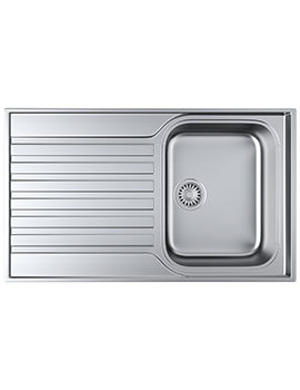 Ascona ASX 611-860 Stainless Steel 1.0 Bowl Kitchen Inset Sink