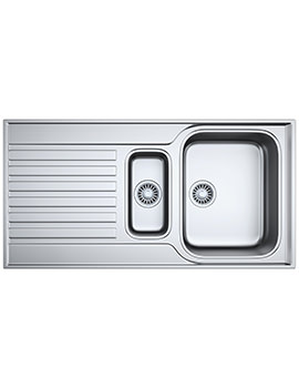 Ascona ASX 651 Stainless Steel 1.5 Bowl Kitchen Inset Sink