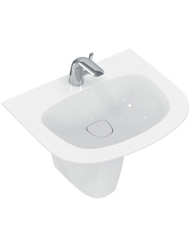 Dea 600mm 1 Tap Hole Vanity Washbasin And Semi Pedestal