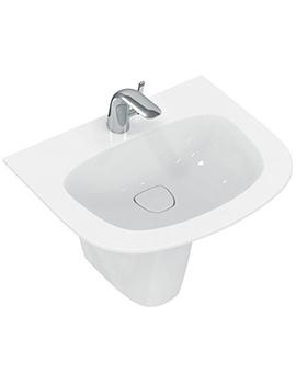 Dea 600mm 1 Tap Hole Vanity Washbasin And Semi Pedestal