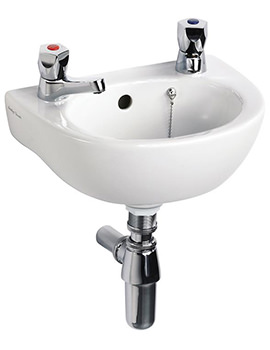 Sandringham 21 350mm 2 TH Handrinse Basin With Overflow