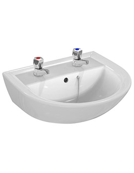 Armitage Shanks Sandringham 21 500mm 2 Taphole Washbasin With Overflow